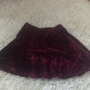Velvet circle skirt